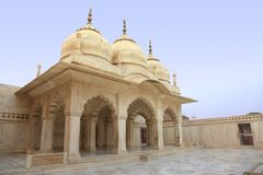White marble palace, Agra fort, India Royalty Free Stock Image