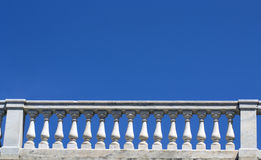 White marble parapet Royalty Free Stock Photos