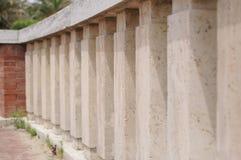 White marble parapet Stock Images