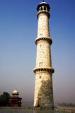 White marble pillar of the Taj Mahal Royalty Free Stock Images