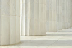White Marble Pillars Royalty Free Stock Photos