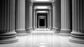 White marble pillars Stock Photo