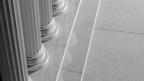 White marble pillars Stock Photos