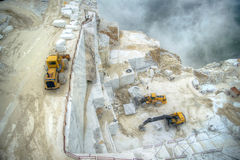 White marble quarries Royalty Free Stock Image