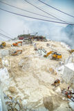 White marble quarries Royalty Free Stock Photos