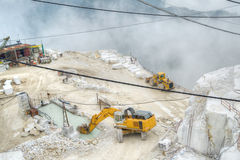 White marble quarries Stock Images