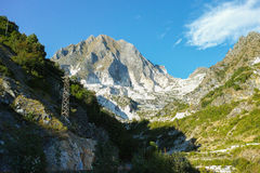 White marble quarries of Carrara in the Apuan alps Massa Royalty Free Stock Photography