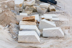 White marble quarries of Carrara in the Apuan alps Massa. White marble quarries of Carrara in the Apuan alps Italy Royalty Free Stock Photo