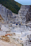 White marble quarry in Carrara royalty free stock photography