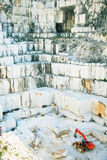 White marble quarry Carrara, Italy royalty free stock images