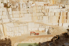 White marble quarry Stock Images