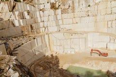 White marble quarry Stock Photo