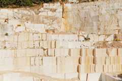 White marble quarry Royalty Free Stock Images