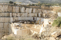 White marble quarry Stock Photo