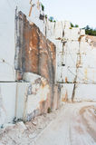 White marble quarry site Royalty Free Stock Photos