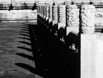 White marble railings in Forbidden City Stock Photos