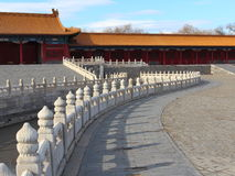 White marble railings in the Imperial Palace Stock Image