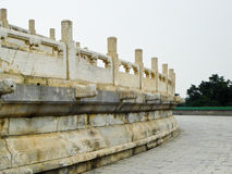 White marble railings. Inside Tiantan park in Beijing China Royalty Free Stock Photo