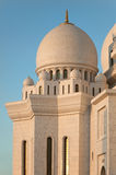 White Marble Sheikh Zayed Mosque of Abu Dhabi Royalty Free Stock Images