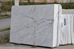 White marble slabs Stock Image