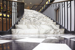 White marble stair in luxury interior. Real estate Royalty Free Stock Photography