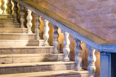 White Marble Staircase. An Ancient White Marble Staircase Stock Photos