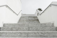 White marble stairs Royalty Free Stock Image