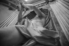 White marble statue royalty free stock photo