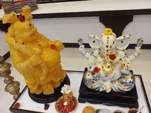 White marble statue lord ganesh stock photos