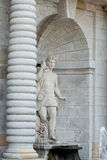 White marble statue of men in park Stock Photo