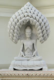 White Marble Statue Of The Old Buddha Stock Photos