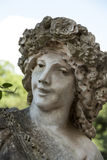 White marble statue in Villa Borghese. Rome Stock Photography