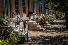 White Marble Steps in Baltimore City Stock Photography