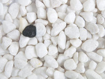 Marble stones with black stone Royalty Free Stock Photography