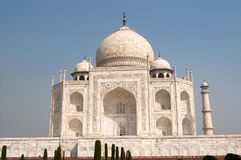 White marble Taj Mahal, India, Agra royalty free stock photo