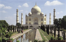 White marble Taj Mahal in India, Agra, Uttar Pradesh Royalty Free Stock Images