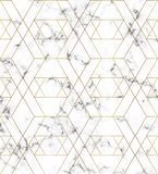 White marble texture with gold line pattern. Background for designs, banner, card, flyer, invitation, party, birthday, wedding, pl. Acard stock illustration