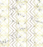 White marble texture with gold line pattern. Background for designs, banner, card, flyer, invitation, party, birthday, wedding, pl. Acard vector illustration