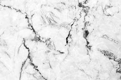 White marble texture shot through with deep veining. Natural pattern for backdrop or background, And can also be used create marble effect to architectural Royalty Free Stock Image