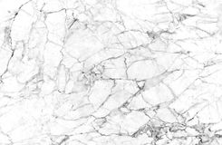 White marble texture shot through with deep veining. Natural pattern for backdrop or background, And can also be used create marble effect to architectural Royalty Free Stock Images