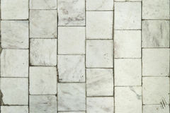 White marble tile texture background. Old white marble tile texture background detail Stock Photo