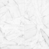 White marble tiles seamless flooring texture for background and design. Stock Images