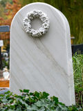 White marble tombstone Royalty Free Stock Photography