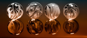 Free White Marbles On Cherry Stock Photography - 59952412