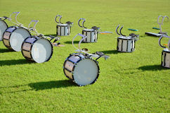 White marching drum set Royalty Free Stock Images