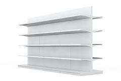 White Market Racks Shelves Showing Products Royalty Free Stock Photography