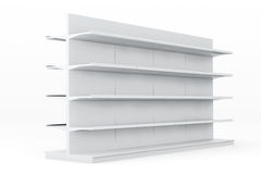 White Market Racks Shelves Showing Products Stock Photos