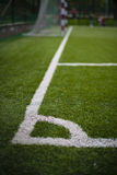White markings on the football field Royalty Free Stock Image