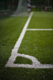 White markings on the football field Royalty Free Stock Images