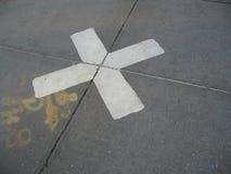 White x marks the spot. On ground royalty free stock photos